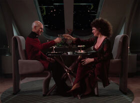 Picard and Lwaxana Troi
