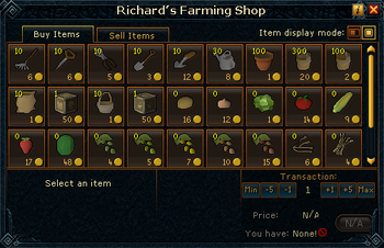 Richard's Farming Shop stock
