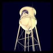 Teen Wolf Behind the Scenes Tyler Hoechlin view of Water Tower at Paramount Studios Lot