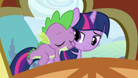 Spike on Twilight&#39;s back 3 S3E2