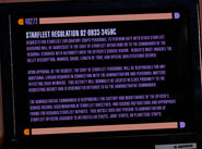 Starfleet transfer regulation detail 2