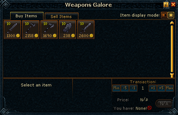 Weapons Galore stock