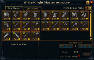 White Knight Master Armoury