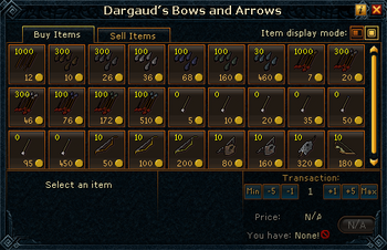 Dargaud's Bows and Arrows stock