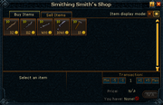 Smithing Smith's Shop stock