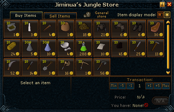 Jiminua's Jungle Store stock