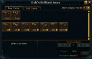 Bob's Brilliant Axes stock