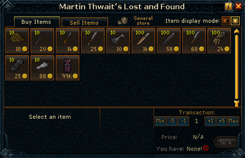 Martin Thwait's Lost and Found stock