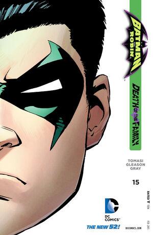 La cobertura de Batman y Robin # 15
