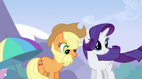Applejack and Rarity feel the drift S3E7