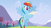 Rainbow excited over reading the letter S3E7