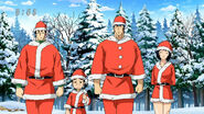 Toriko, Rin, Coco and Komatsu dressed as santas