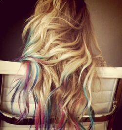 Color dipped hair