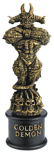 Golden-demon-statue