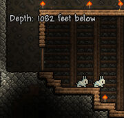 Terraria Bunny 1082-feet-below