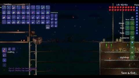 Eye of Cthulhu vs. Me 6 times Terraria