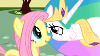 "Fluttershy and Celestia ""rather melodramatic"" S01E22"