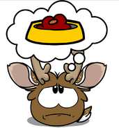 Reindeer Puffle Thinking of Puffle O's