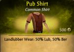 Pub Shirt - clearer