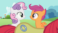 Sweetie Belle, Scootaloo and Apple Bloom&#39;s new cutie mark S2E6