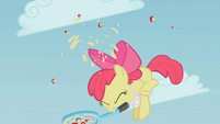 Apple Bloom hitting the apple S1E12
