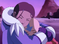 Katara comforts Aang
