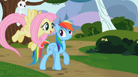 Angel on Fluttershy&#39;s tail S2E07
