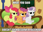 CMC Doesn't deserve a facehoof