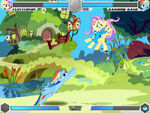 Fluttershy vs Rainbow Dash Fluttershy's cottage Fighting is Magic