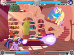 Twilight vs Fluttershy Golden Oaks Library Fighting is Magic