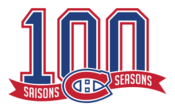 Montreal Canadiens logo (100 seasons)
