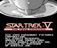 Bandai Star Trek V video game