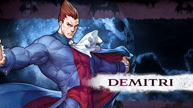 Darkstalkers Resurrection Demitri Moves List