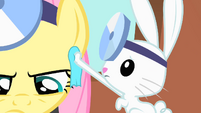 Angel wipes off Fluttershy&#39;s sweat S01E22