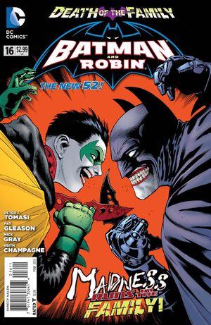 La cobertura de Batman y Robin # 16