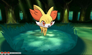 Fennekin en combate