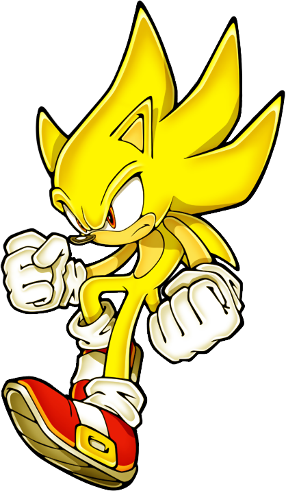 Gold Sonic Colouring Pages