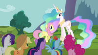 Princess Celestia talks to Fluttershy S03E10