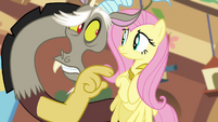 Discord calls Fluttershy&#39;s friends nasty S03E10