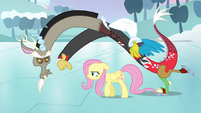 Discord rubs his victory in Fluttershy&#39;s face S03E10