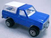 Bronco 4-wheeler blue ct painted base