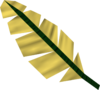 Yellow feather detail