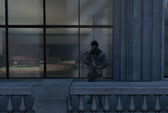 Russian soldier on Lustig balcony MW3