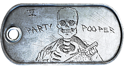 Party Pooper Dog Tag