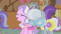 Diamond Tiara and Silver Spoon laugh at Apple Bloom S01E12