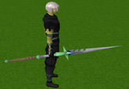 Staff of light equipped (green)