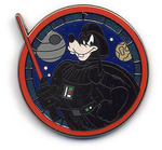 Goofy darth vader pin
