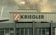 Kriegler sign on a building MW3