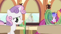 Sweetie Belle dressed for it S3E11