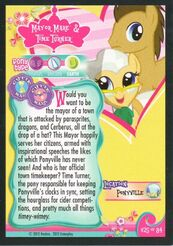 Mayor Mare and Time Turner trading card